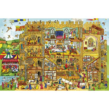 Picture of Castle Wooden Floor Puzzle 24 piece