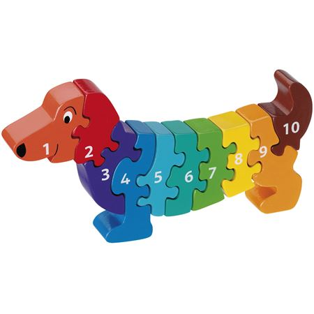 Picture of Dachshund 1 - 10 Number Puzzle