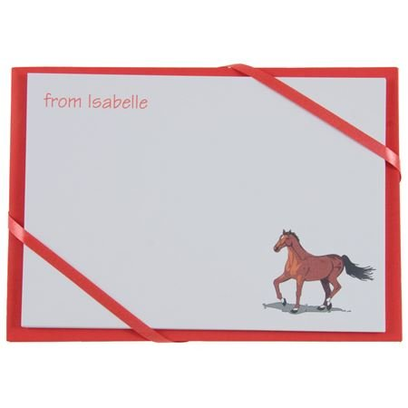 Picture of Named Cards - Horse (Red)