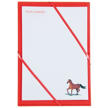 Picture of Named Notepaper - Horse (Red)