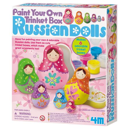Picture of Paint Own Russian Doll Trinket Boxes