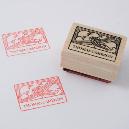 Picture of Named Rubber Stamp - Plane