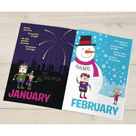 Picture of Personalised Months of the Year Book