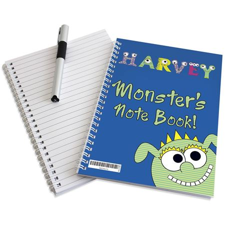 Picture of Little Monster Notebook - Personalised