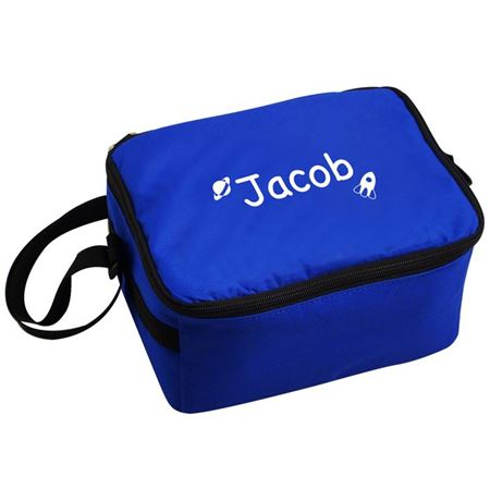 Picture of Cool Bag/Lunch Box - Blue Rocket