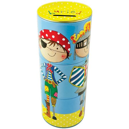 Picture of Tiered Swivel Money Tin - Buried Treasure Pirate