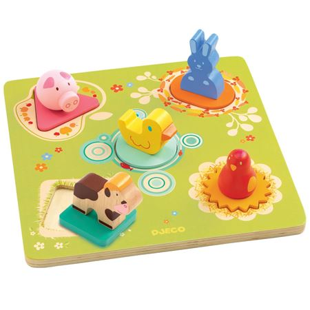 Picture of 3D Wooden Farm Animal Puzzle