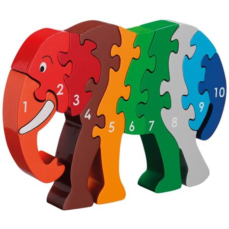 Picture of Elephant 1-10 Jigsaw
