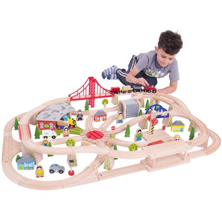 Wooden Train Sets for Kids | Complete Wooden Toy Railway Sets