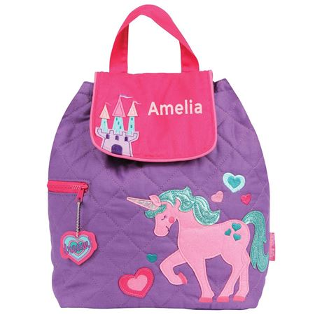 Picture of Personalised Unicorn Quilted Backpack