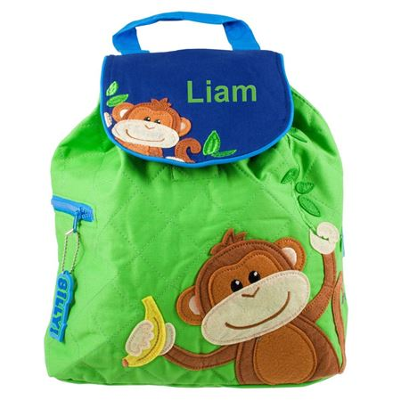 Picture of Personalised Monkey Quilted Backpack