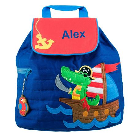 Picture of Personalised Pirate Alligator Quilted Backpack