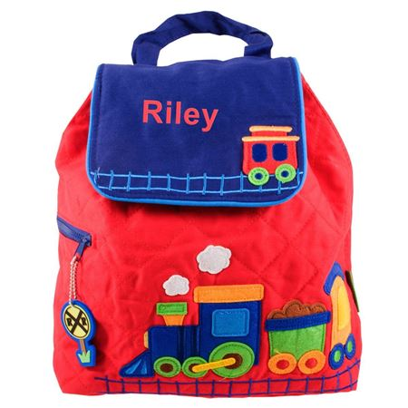Picture of Personalised Train Quilted Backpack
