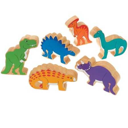 Picture of Wooden Dinosaurs in a Bag