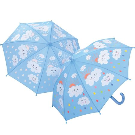 Picture of Raindrops & Clouds Colour Changing Umbrella
