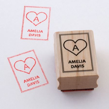 Picture of Named Rubber Stamp - Heart