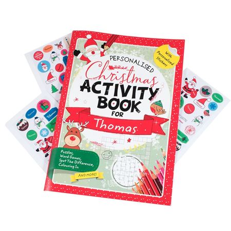 Picture of Personalised Christmas Activity Book
