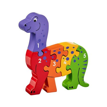 Picture of Dinosaur 1 - 5 Number Puzzle
