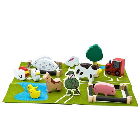 Picture of Gift in a Tin  - Wooden Farm Set