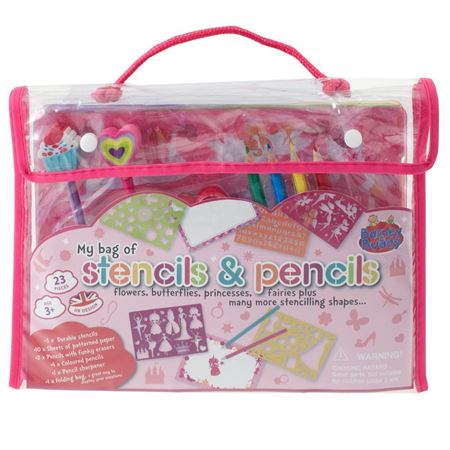 Picture of Pink Stencils & Pencils