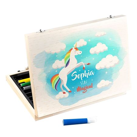 Picture of Rainbow Unicorn Colouring Set