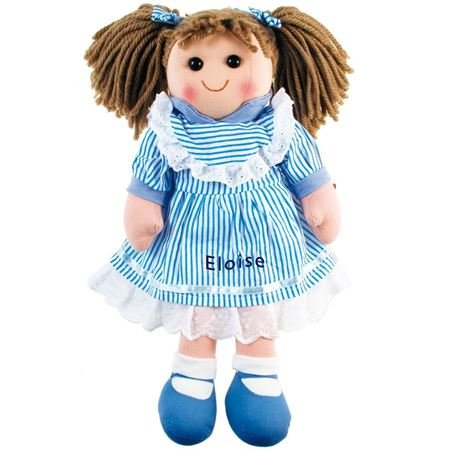 Picture of Personalised Rag Doll - Blue Stripe