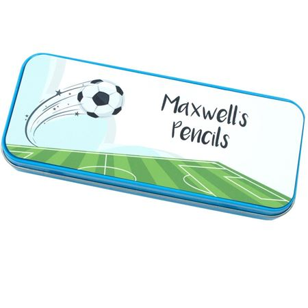 Picture of Personalised Pencil Tin - Football
