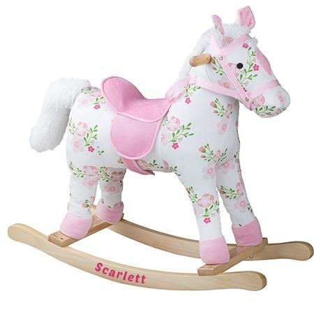 Picture of Floral Wooden Rocking Horse