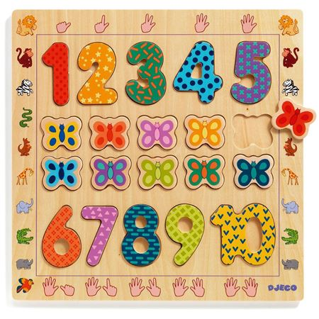 Picture of 1-10 Wooden Number Puzzle